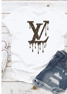 LV Inspired Drip Tee Shirt
