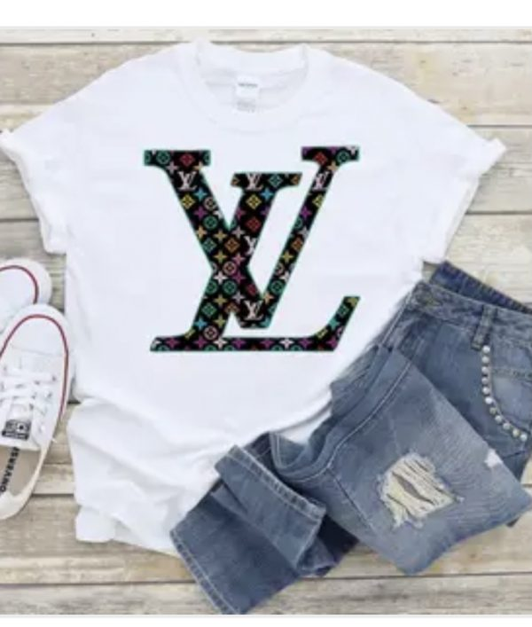 LV Inspired Multi Color Tee Shirt