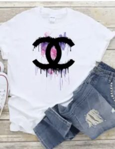 CC inspired Pink n Purple Drip Tee Shirt
