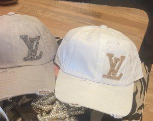LV Inspired Distressed Baseball Hats