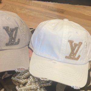 Black Dripping CC Inspired Distressed Baseball Hats