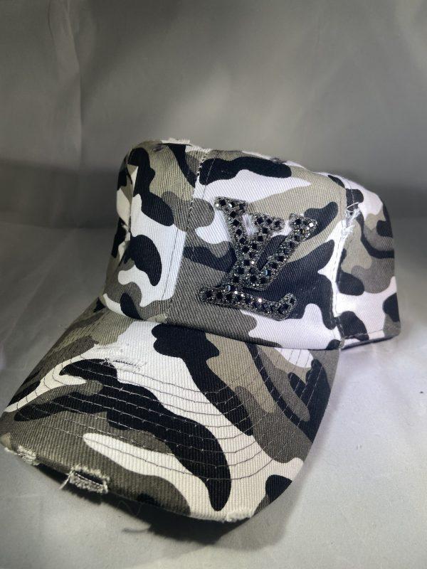 LV Inspired Distressed Baseball Hat