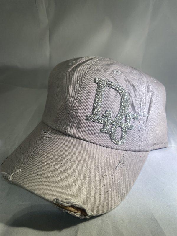 Dior Inspired Distressed Baseball Hat