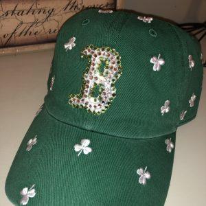 Boston Red Sox Shamrock with Swarovski crystals