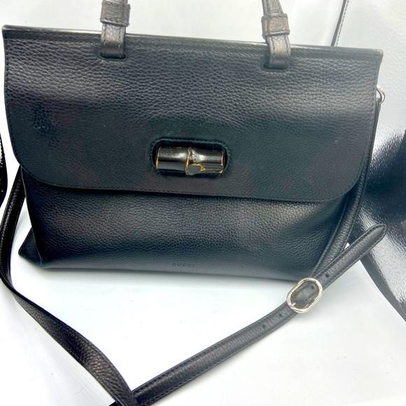 Gucci Black Leather Pocketbook