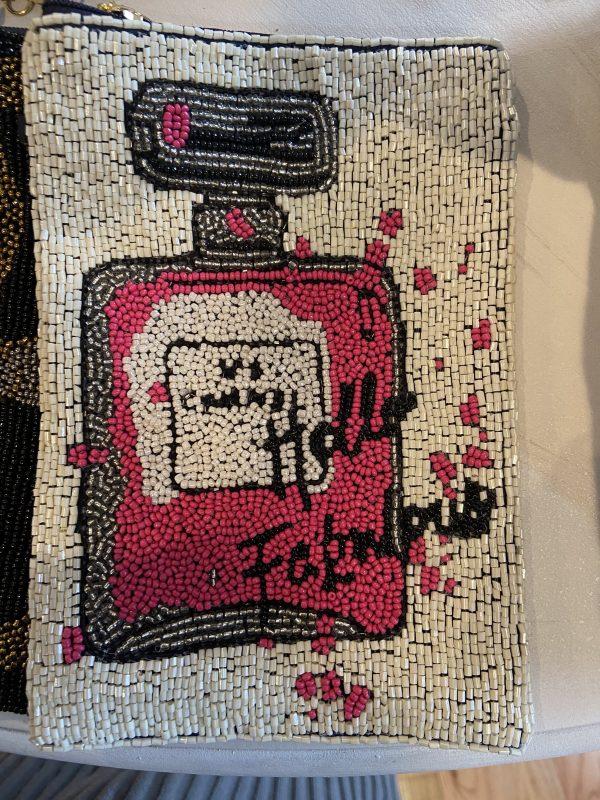 CC Inspired crossbody beaded bag.