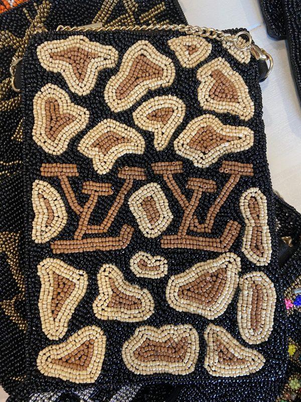 LV Inspired crossbody beaded bag