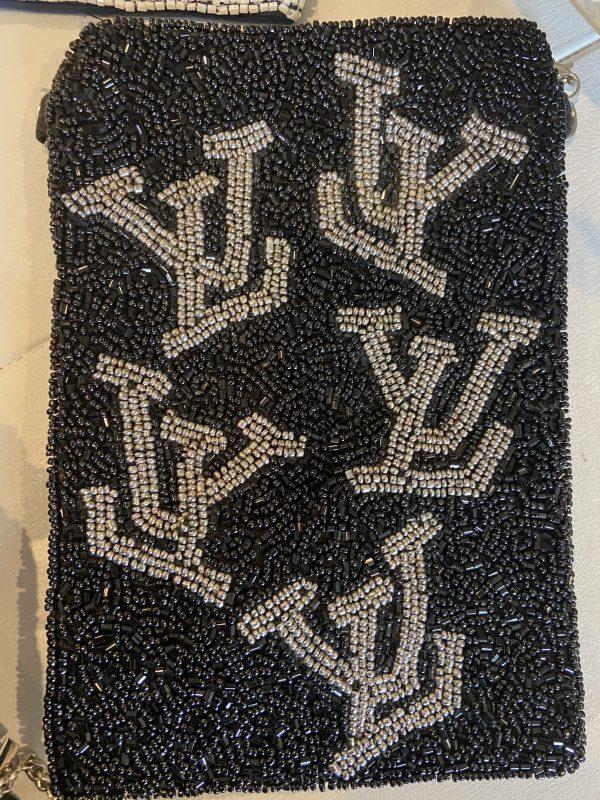 LV Inspired crossbody beaded bag.