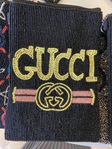 Gucci Inspired crossbody beaded bag.