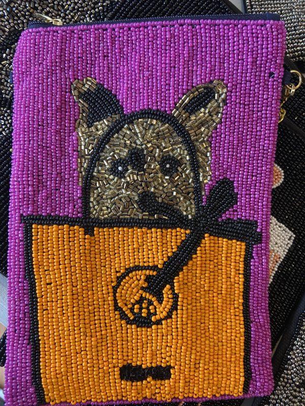 Hermes Inspired crossbody beaded bag.