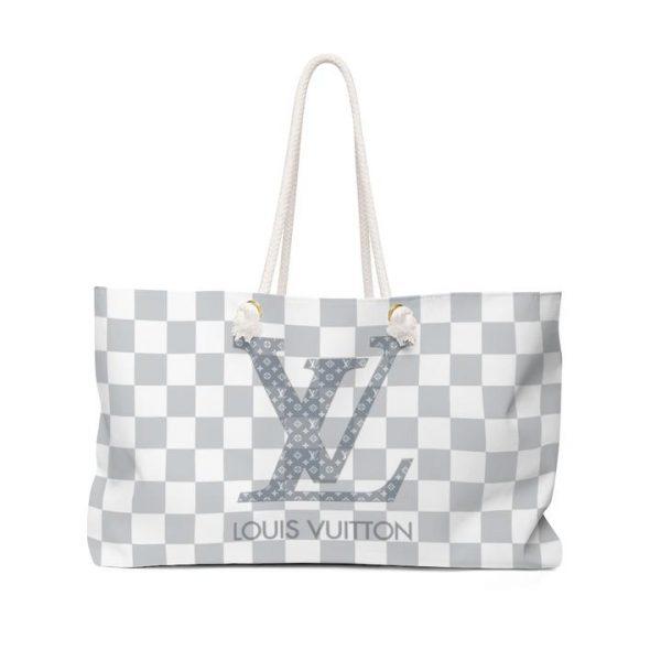 LV Damier Inspired Beach Bag