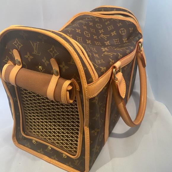 Louis Vuitton dog/cat pet carrier