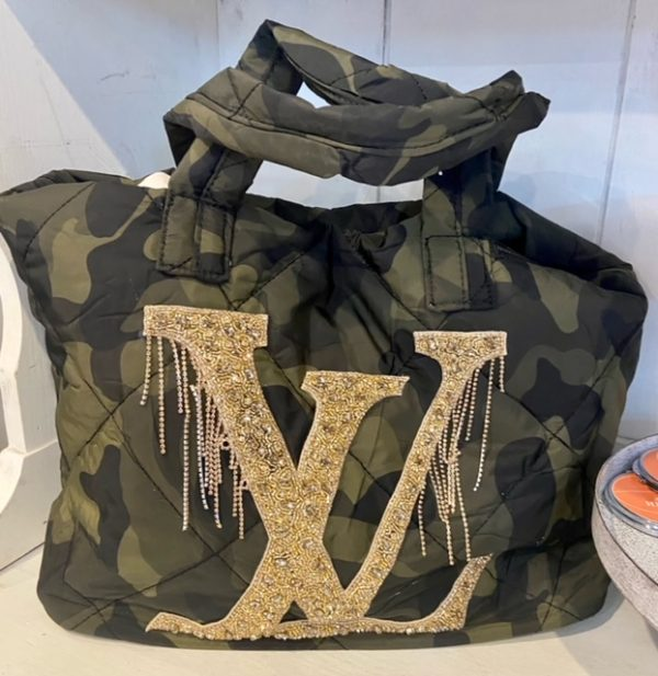 LV Inspired Camo weekender bag.