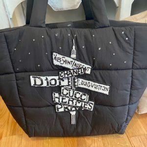 Designer Inspired Street signs weekender bag.