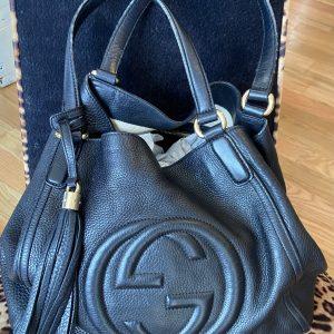 Authentic Gucci Black Leather W/Tassel