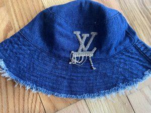LV Inspired Blue Bucket Hat