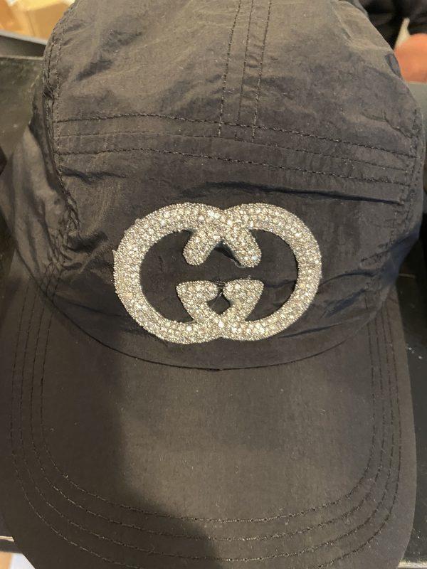 Gucci Inspired Black Nylon Baseball Hat