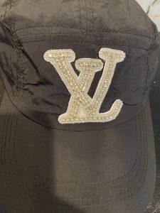 LV Inspired Black Nylon Baseball Hat