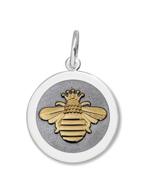 27mm Medium Queen Bee Gold Pewter