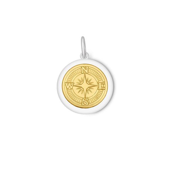 27mm Medium Compass Rose Gold Center Vermeil