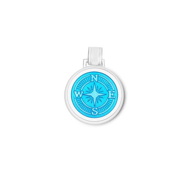 35mm Large Compass Rose light blue