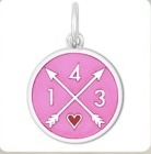19mm Small 1-4-3 I Love You Vintage Pink