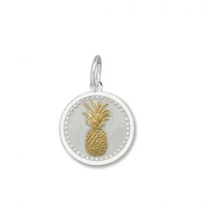 19mm Small Pineapple Gold Vermeil Alpine White