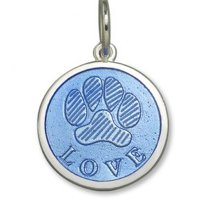 19mm Small Paw Print Periwinkle